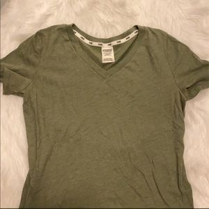 PINK STAPLE GREEN TEE GREAT CONDITION